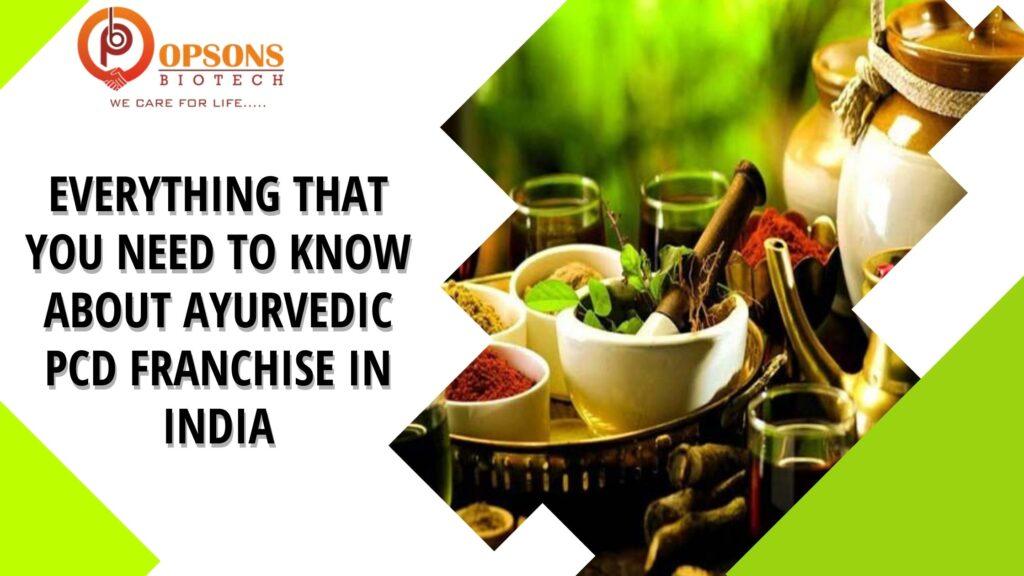 Ayurvedic PCD Franchise in India