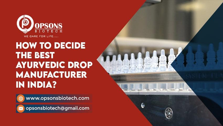 ayurvedic drops manufacturers